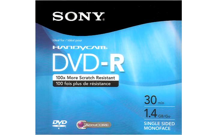 DVD – R 30 min