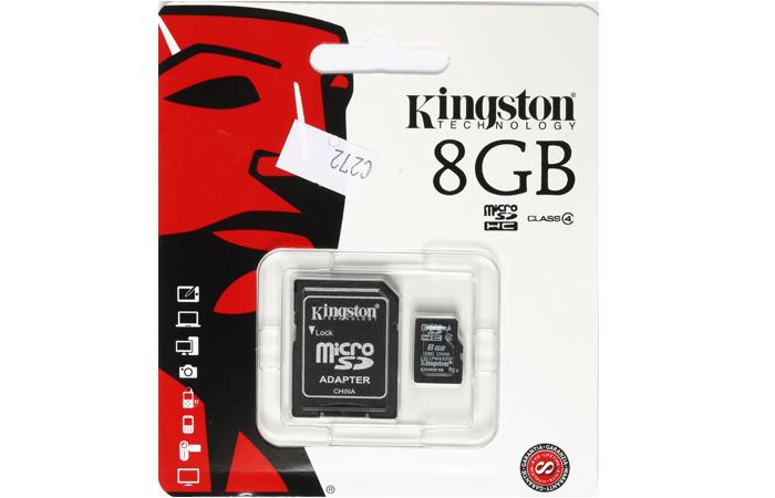Tarjeta Micro SD 8 GB Clase 4